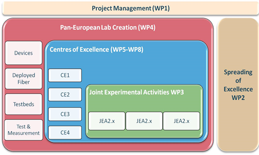 Figure 1: Structure and organization of EURO-FOS activities.