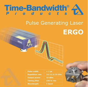 Figure 13: Poster summarizing features of the commercialized ERGO laser for 12.5 GHz and 25 GHz repetition rates / channel spacing