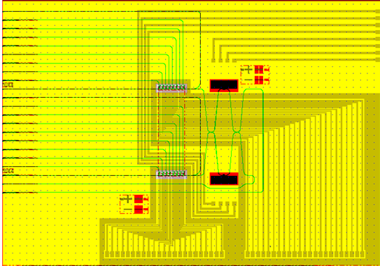 Figure 1-10 GDS layout of the 2x2 PLATON router