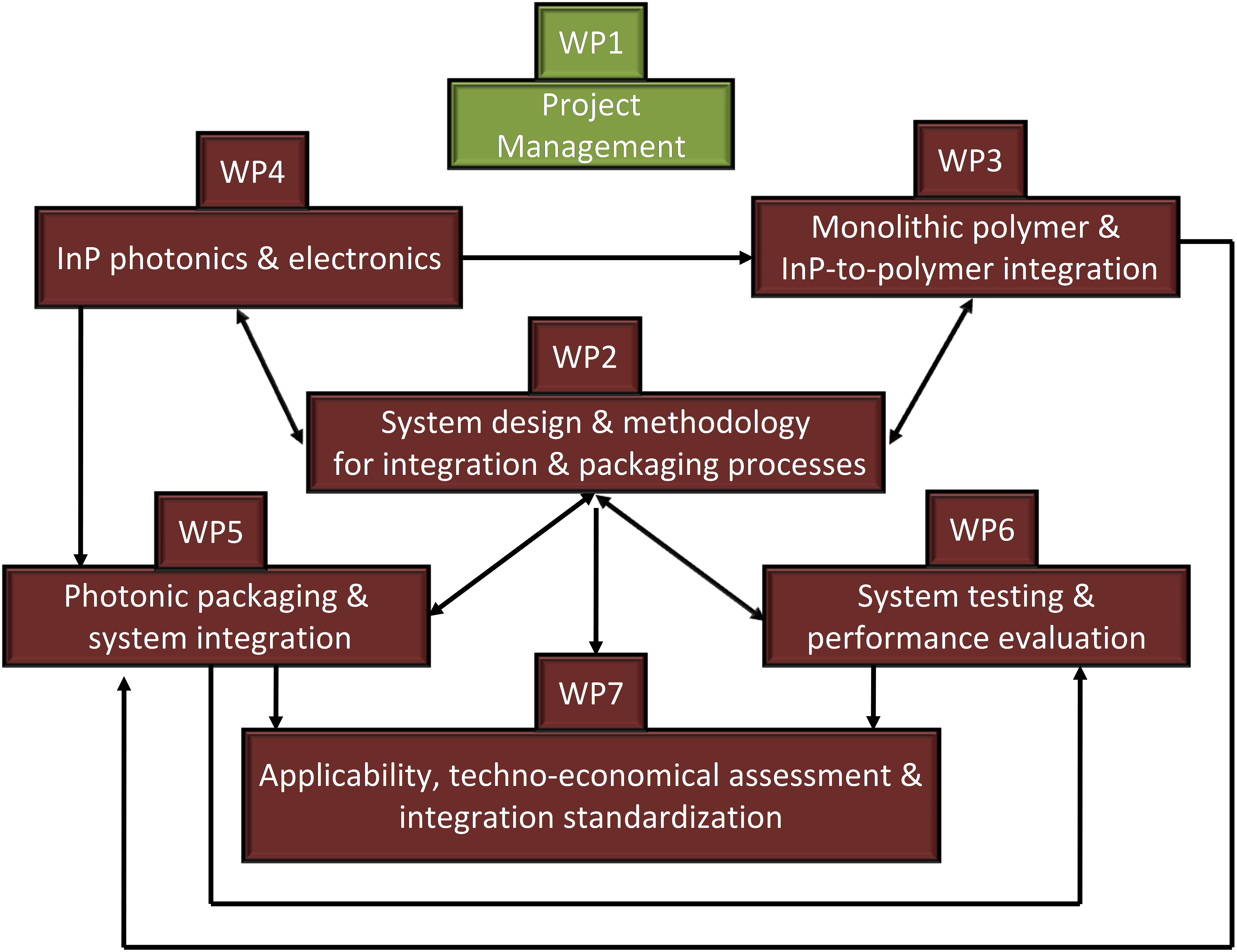 Figure 1: Structure of Work in POLYSYS Project.