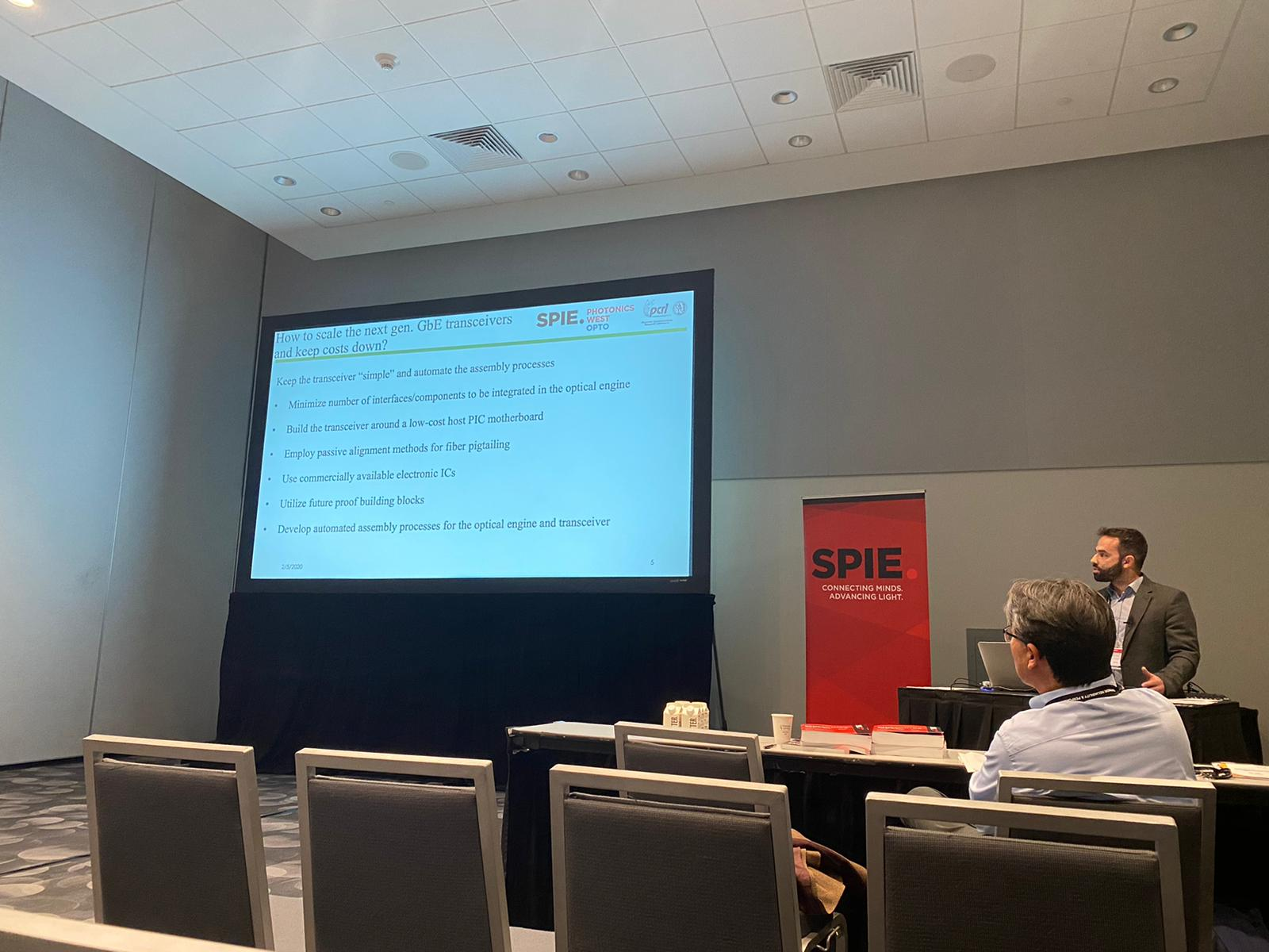Groumas at SPIE 2020 presenting inv paper
